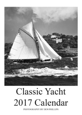 classic yacht calendar photography black and white